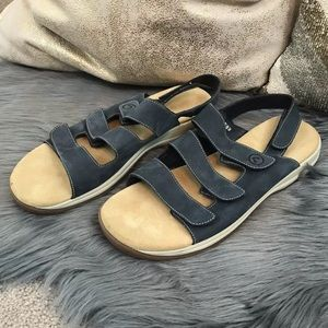 Rockport Leather 3 Band Slip On Sandals Sz 9.5